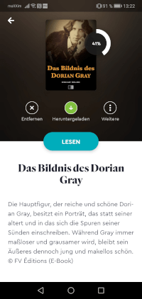 BookBeat App für eBooks