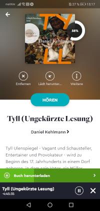 Hörbücher Hören in der BookBeat App